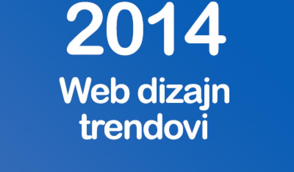 New web design trends in 2014