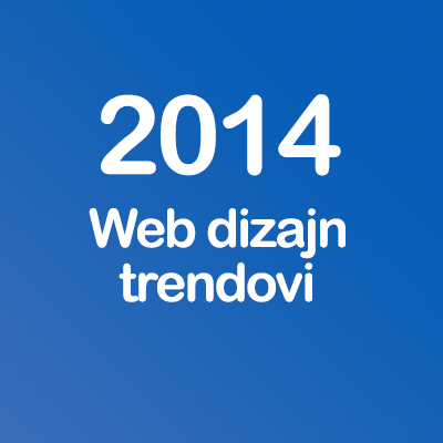 New web design trends in 2014